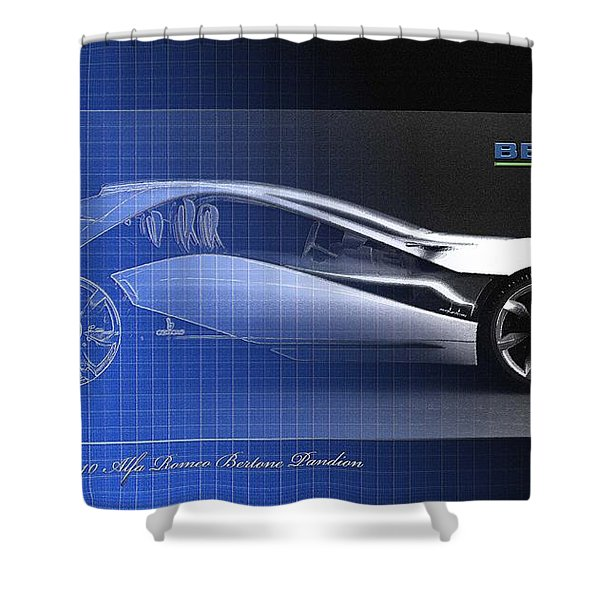 Alfa Romeo Bertone Pandion Concept Shower Curtain
