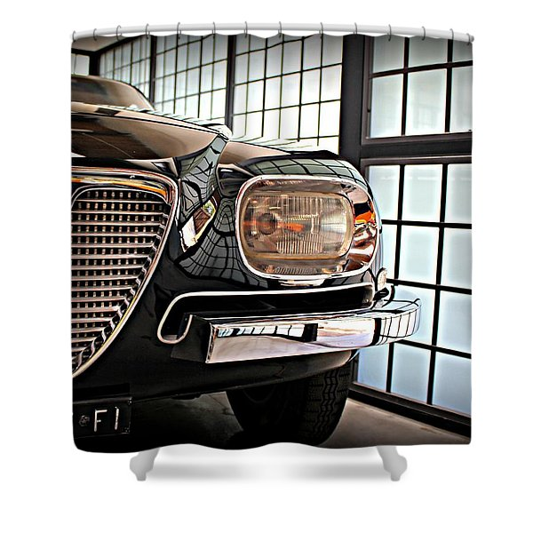 Alfa Romeo In Black Shower Curtain