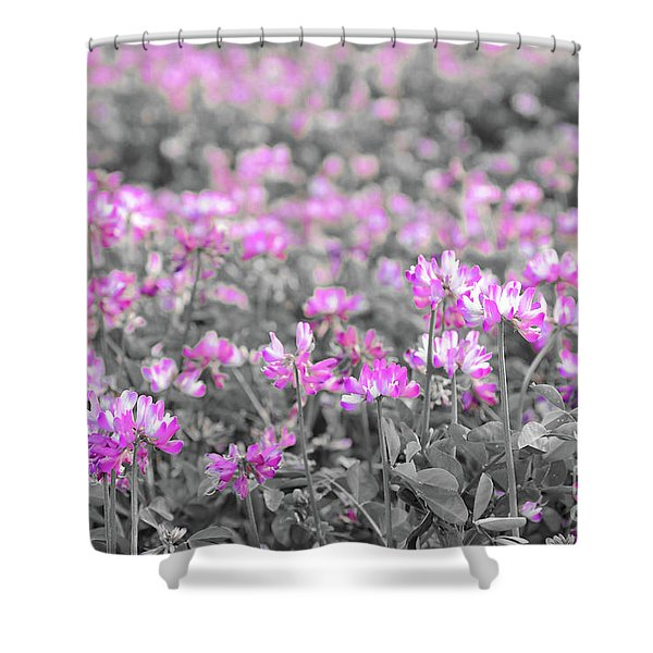 Alfalfa Flowers Shower Curtain