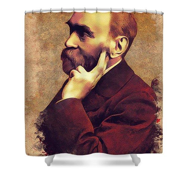 Alfred Nobel, Inventor Shower Curtain