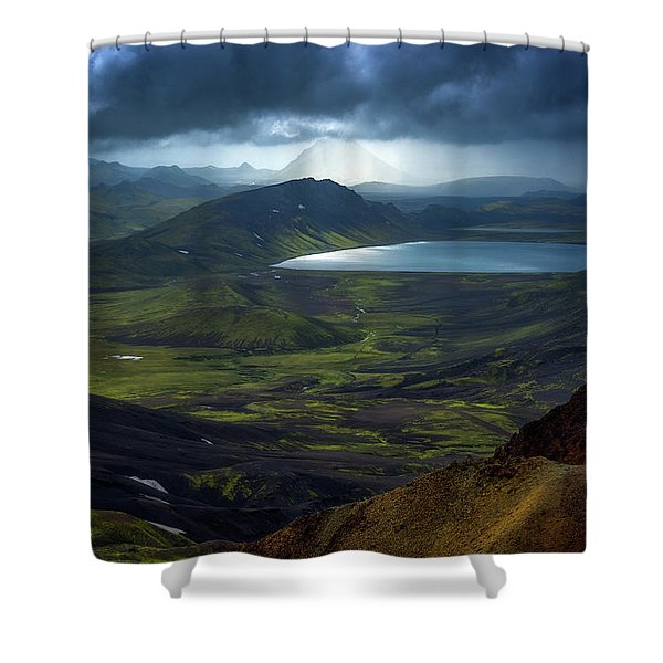 Alftavatn Shower Curtain
