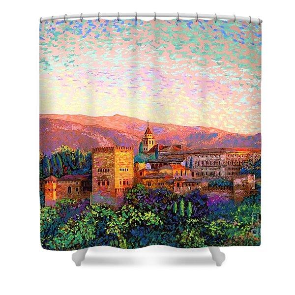 Alhambra, Granada, Spain Shower Curtain