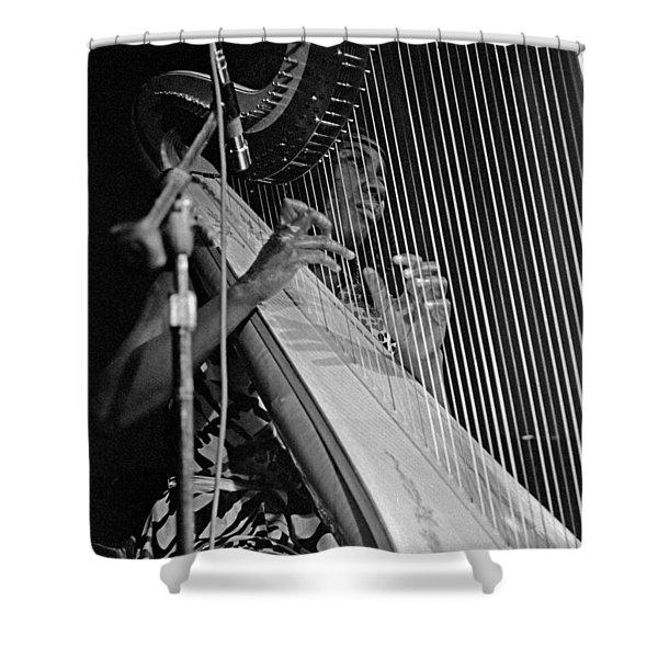 Alice Coltrane On Harp Shower Curtain