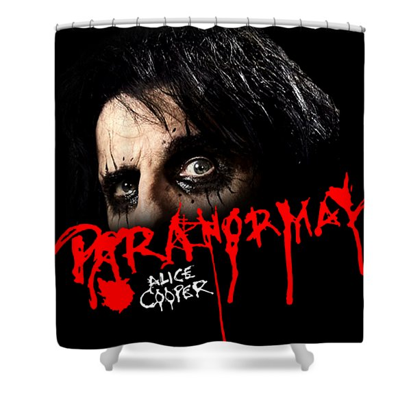 Alice Cooper Paranormal Face Shower Curtain