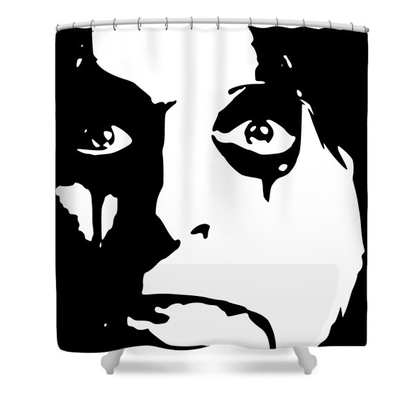 Alice Cooper Pop Art Shower Curtain