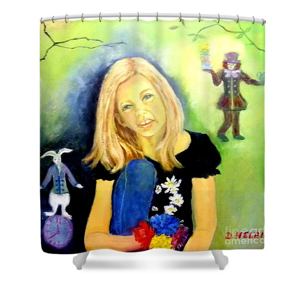 Alice In Garden Shower Curtain