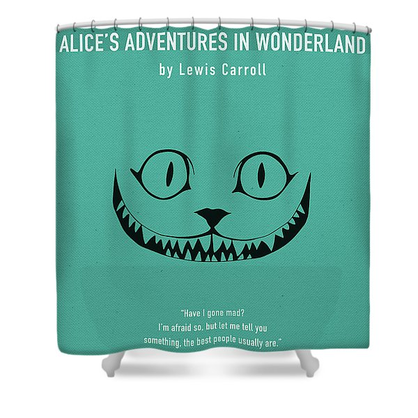 Alice In Wonderland By Lewis Carroll Greatest Books Ever Series 021 Shower Curtain