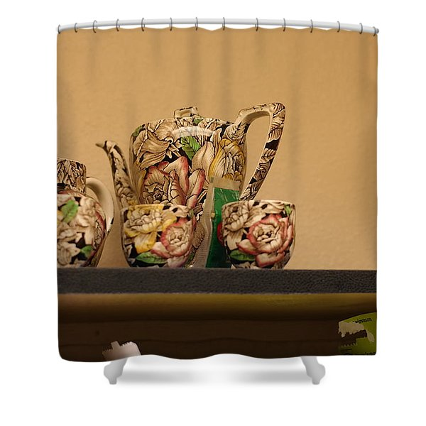 Alice's Tea Party Shower Curtain