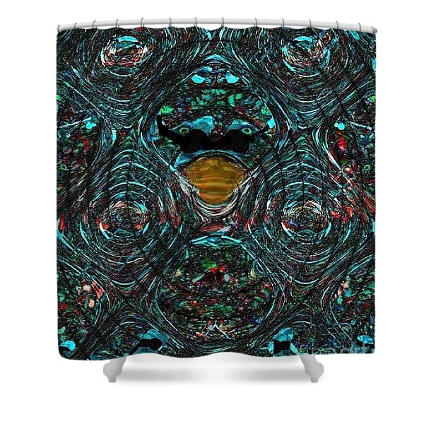 Alien Ab-duck-tion Shower Curtain