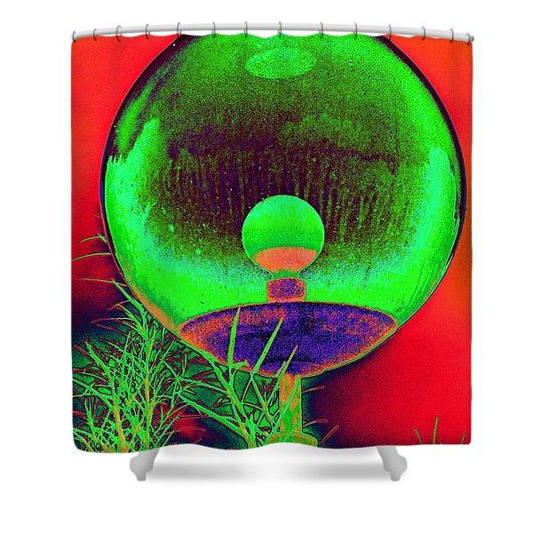 Alien Orb Shower Curtain