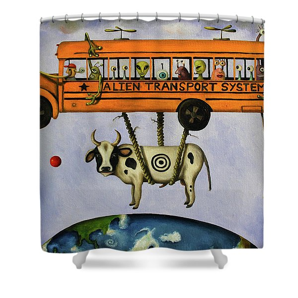 Alien Transport System Shower Curtain