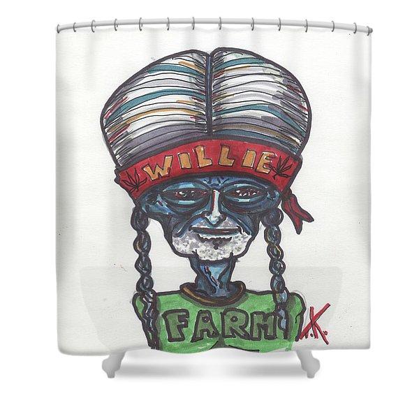 alien Willie Nelson Shower Curtain