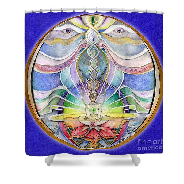 Alignment Mandala Shower Curtain