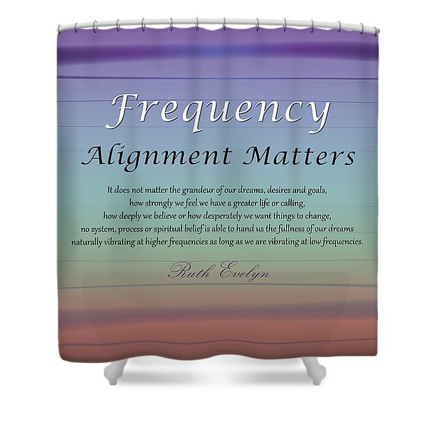 Alignment Matters Shower Curtain
