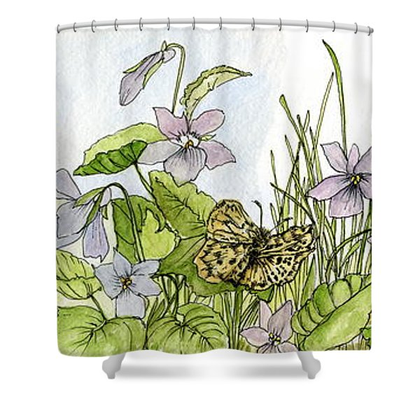 Alive In A Spring Garden Shower Curtain