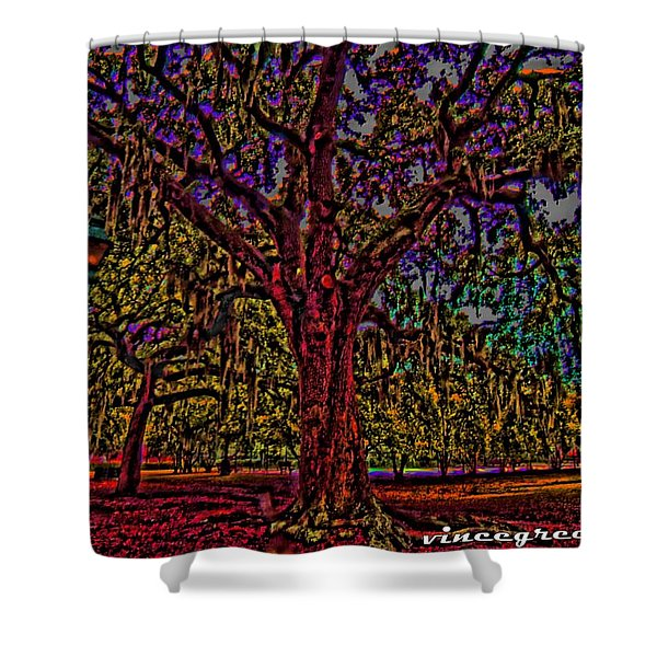 Alive Oak Shower Curtain