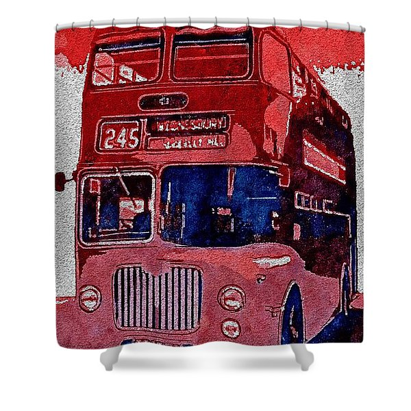 Shower Curtain featuring the painting All Aboard by Mark Taylor