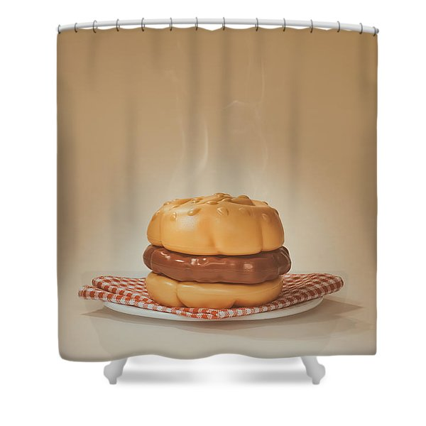 All-american Burger Shower Curtain