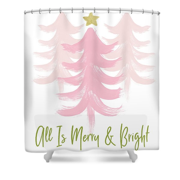 All Is Merry And Bright- Art By Linda Woods Shower Curtain