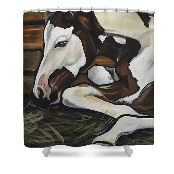 All Legs And Spots Shower Curtain