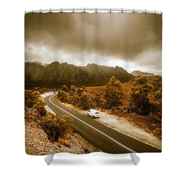 All Roads Lead To Adventure Shower Curtain