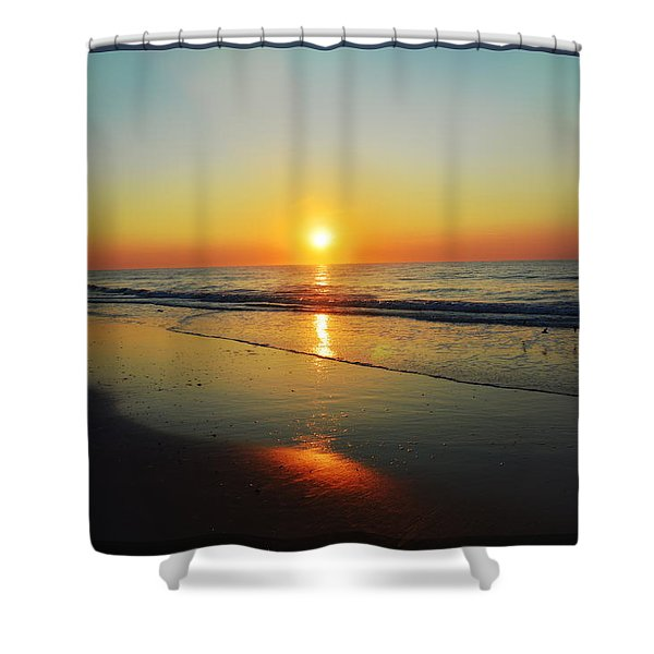 All That Shimmers Is Golden Shower Curtain