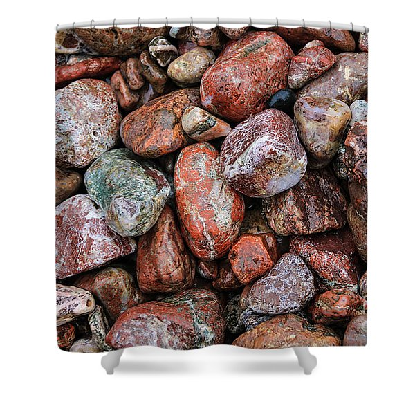 All The Stones Shower Curtain