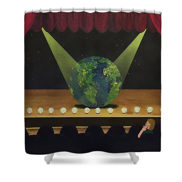All The World's On Stage Shower Curtain