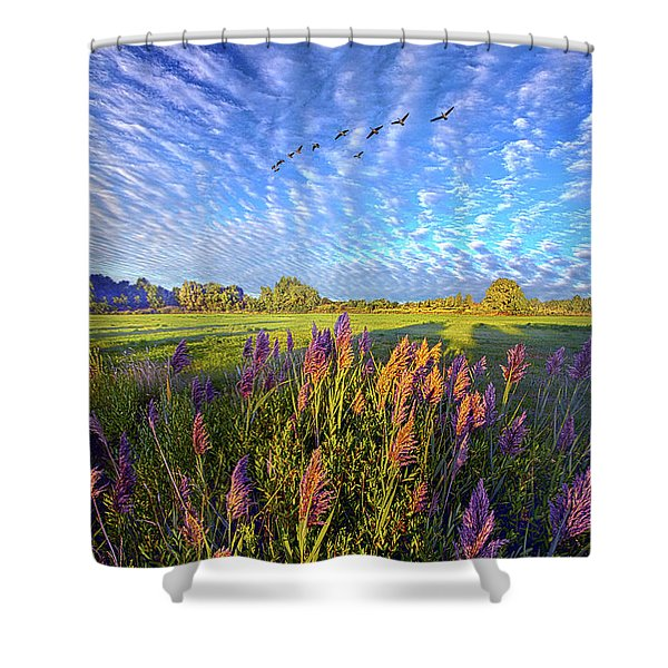 All Things Created And Held Together Shower Curtain