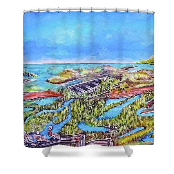 All Washed Up Shower Curtain