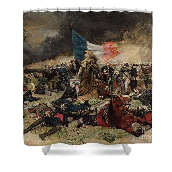 Allegory Of The Siege Of Paris Shower Curtain