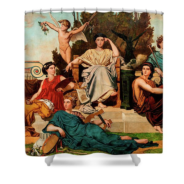 Allegory To The Arts Shower Curtain