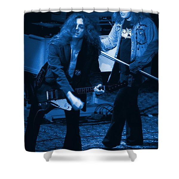 Allen Collins And Ronnie Van Zant Same Old Winterland Blues Shower Curtain