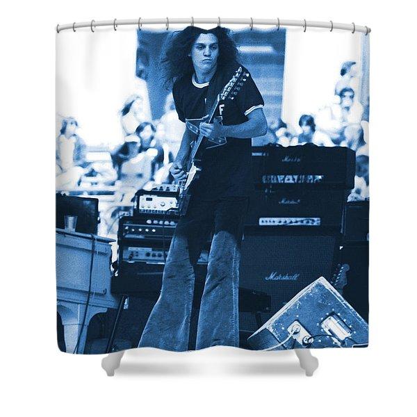 Allen Collins In Blue Oakland 1975 Shower Curtain