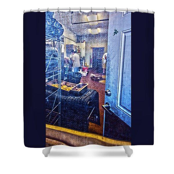 Alley Screen Door Shower Curtain