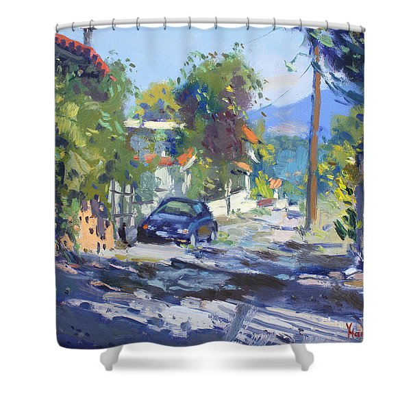 Alleyway By Lida's House Greece Shower Curtain