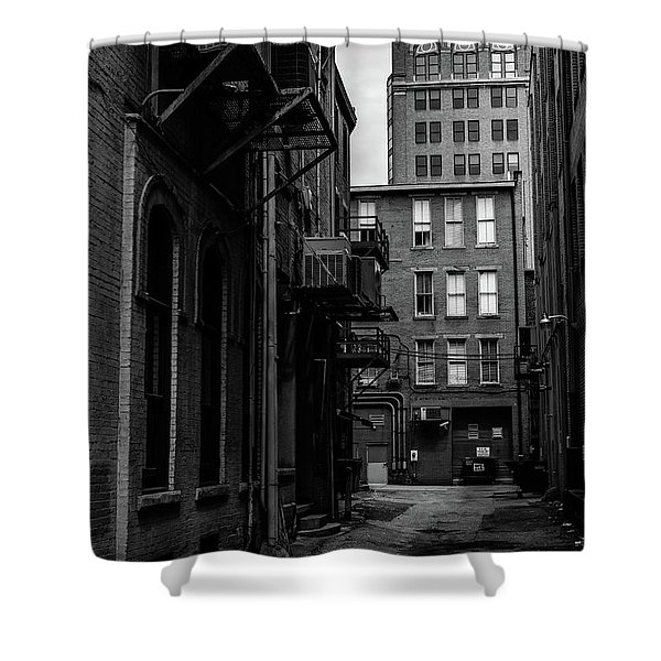 Shower Curtain featuring the photograph Alleyway I by Break The Silhouette