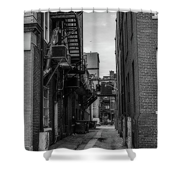 Shower Curtain featuring the photograph Alleyway II by Break The Silhouette