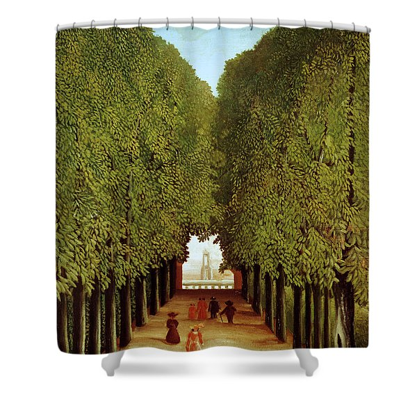 Alleyway In The Park Shower Curtain