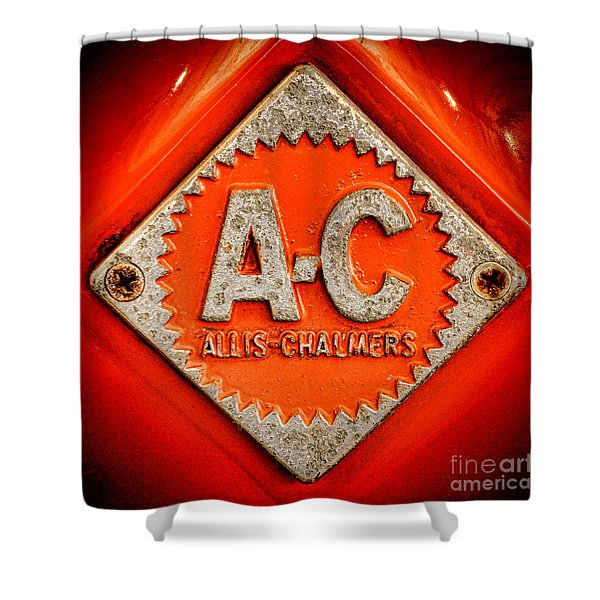 Allis Chalmers Badge Shower Curtain
