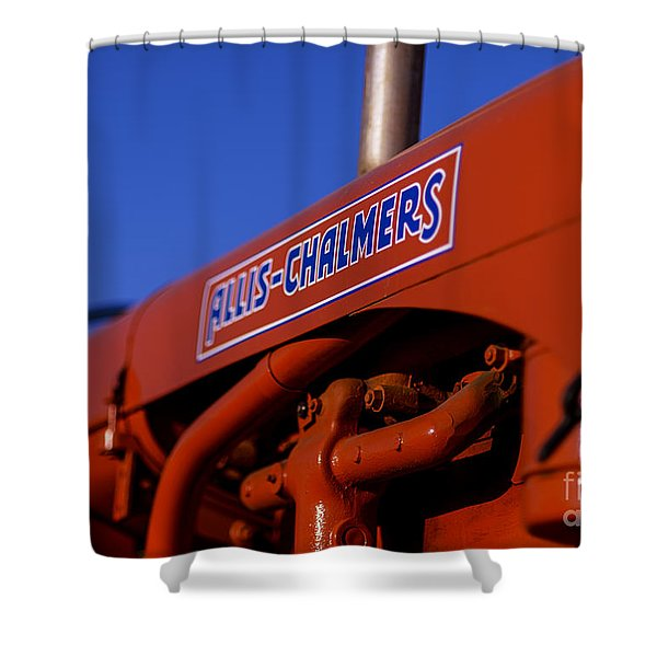Allis-chalmers Vintage Tractor Shower Curtain