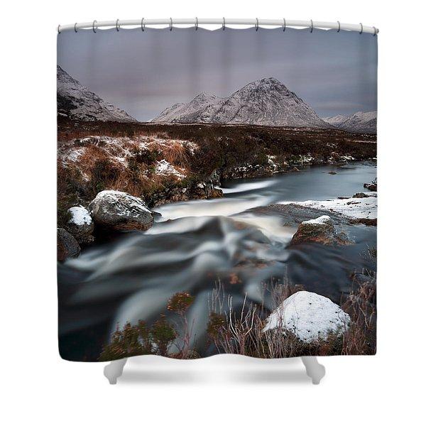 Allt Nan Giubhas And The Peak Of Stob Dearg Shower Curtain