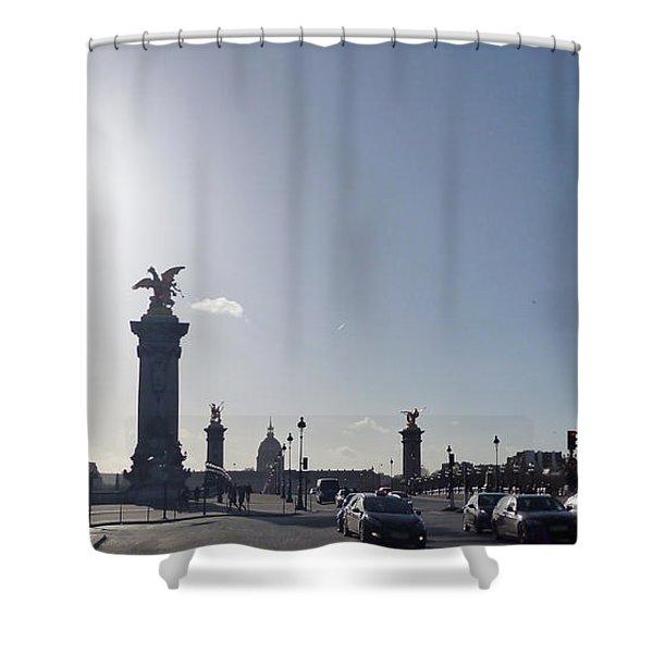 Almost Night In Paris Shower Curtain
