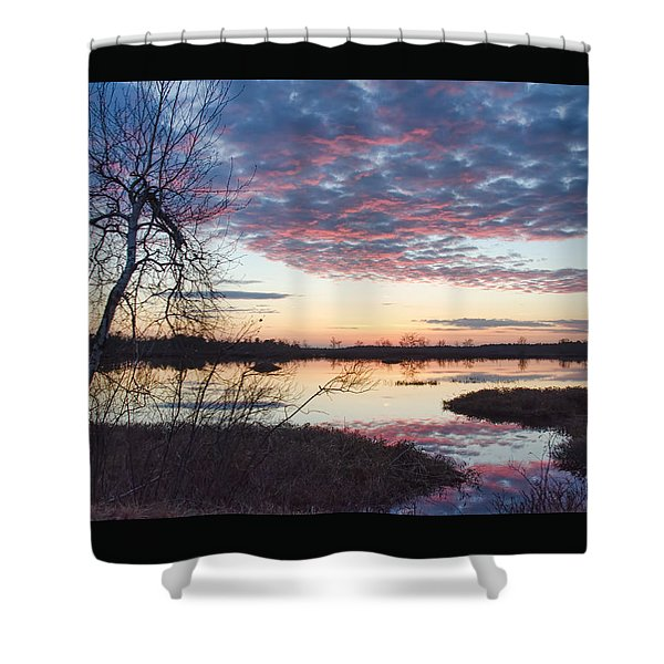 Almost Spring Sunset Shower Curtain