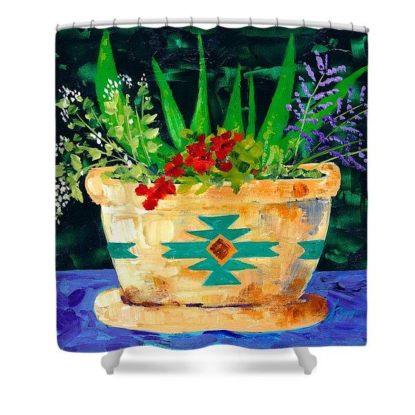 Aloe Vera And Friends  Shower Curtain