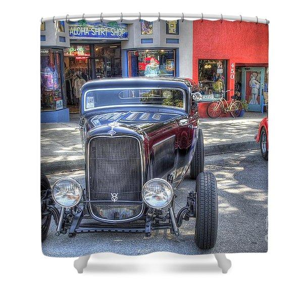 Aloha Cars And Pinups Shower Curtain