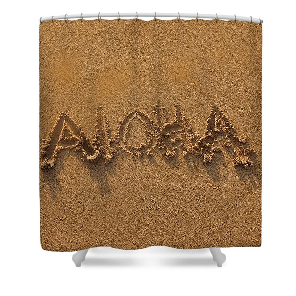 Aloha In The Sand Shower Curtain