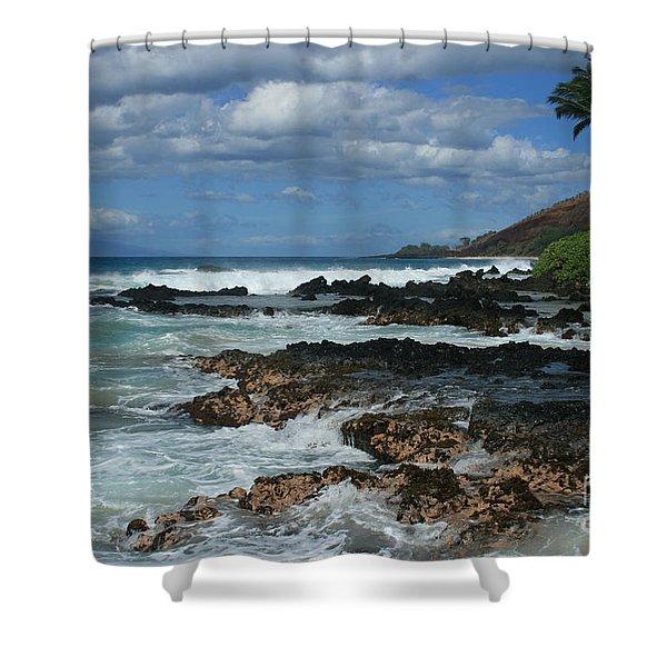 Aloha Island Dreams Paako Beach Makena Secret Cove Hawaii Shower Curtain