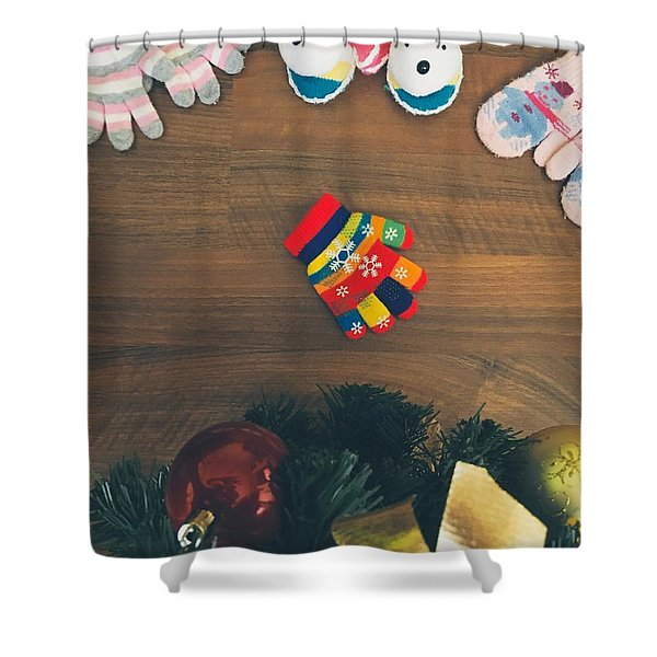 Alone For Christmas Shower Curtain