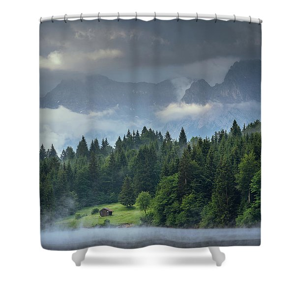 Alone In German Alps Shower Curtain